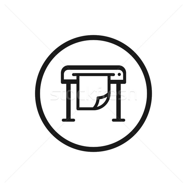 Stock photo: Plotter icon on a white background