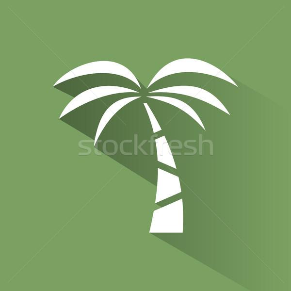 Palmboom icon groene schaduw boom landschap Stockfoto © Imaagio