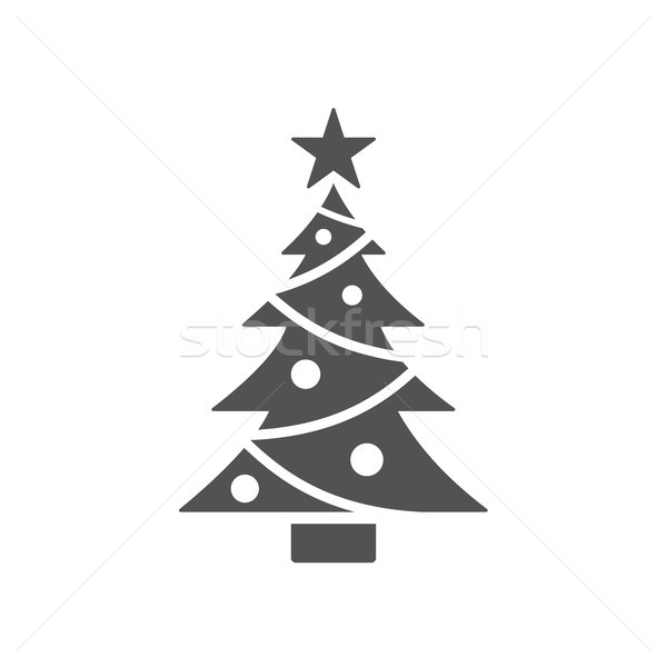 Isolated christmas tree icon with star Stock photo © Imaagio