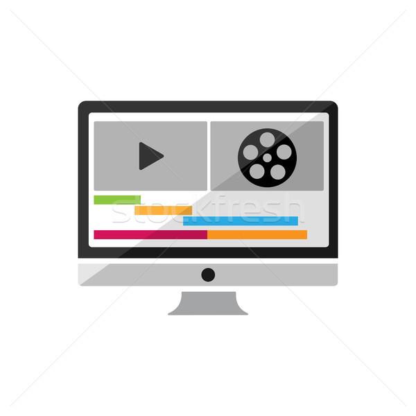 Video and sound postproduction icon Stock photo © Imaagio