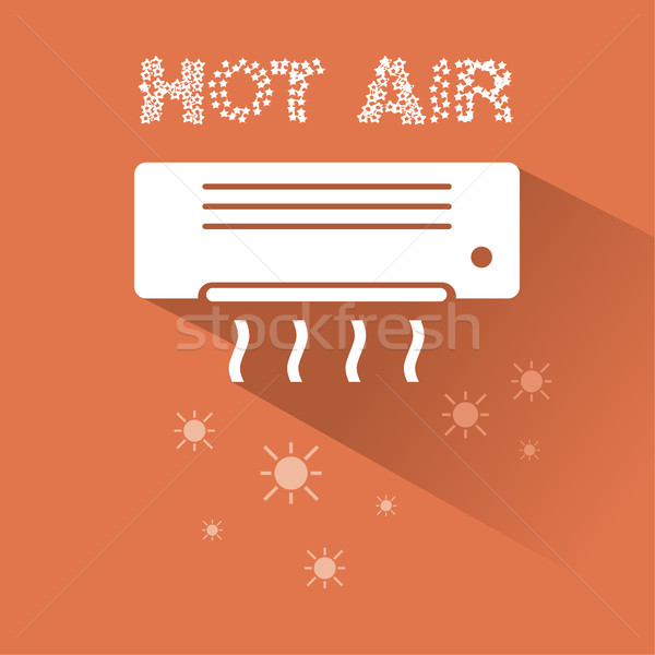 Air conditioner heating icon with text Stock photo © Imaagio