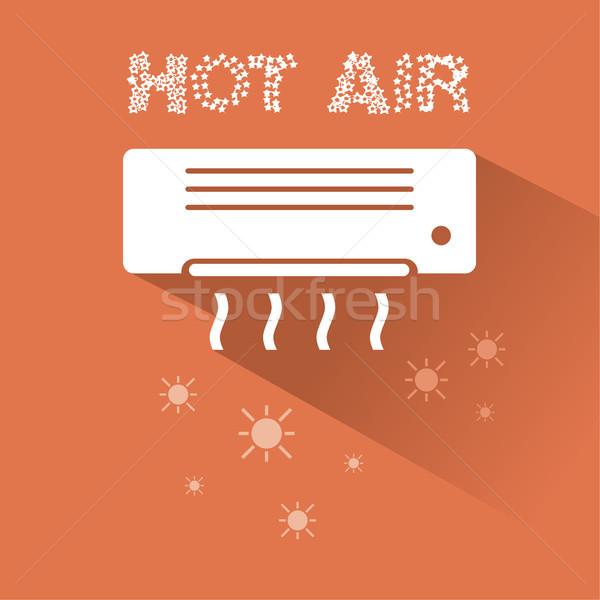 空調装置 加熱 アイコン 文字 壁 技術 ストックフォト © Imaagio