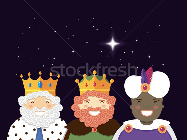 The Three Kings with christmas star. Epiphany day Stock photo © Imaagio