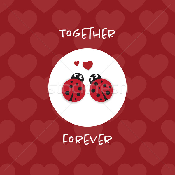 Together forever card with ladybugs Stock photo © Imaagio