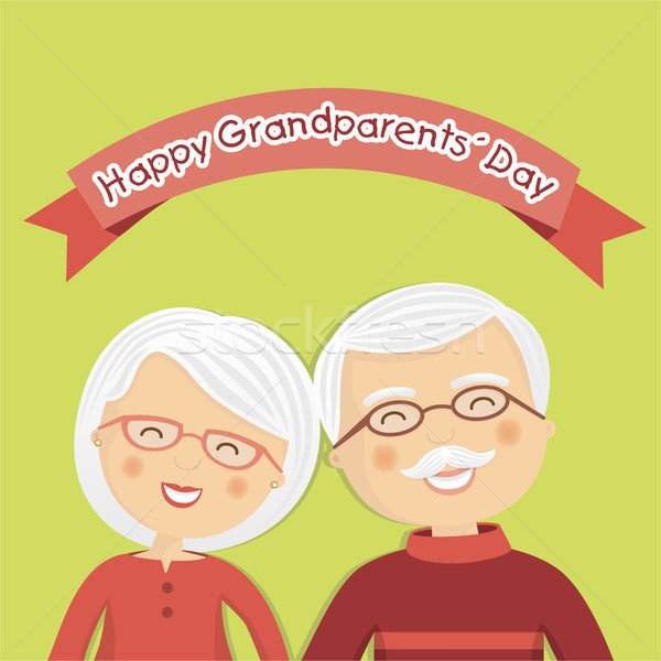 Happy grandparents day with white hair Stock photo © Imaagio
