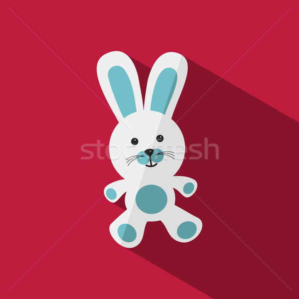 White and blue bunny with shade Stock photo © Imaagio
