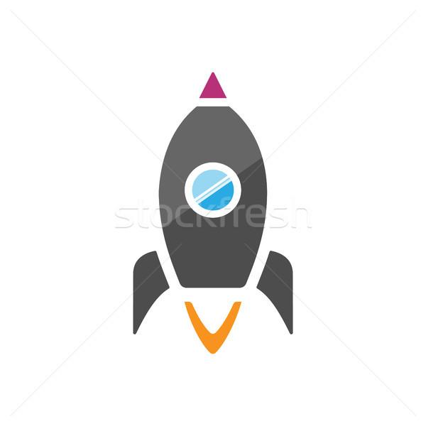 Classic spaceship icon on a white background Stock photo © Imaagio