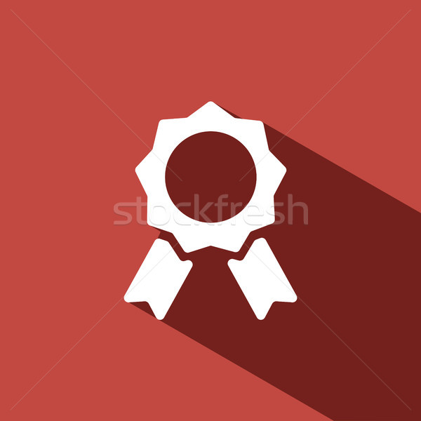 Seal of authenticity with shadow on red background Stock photo © Imaagio