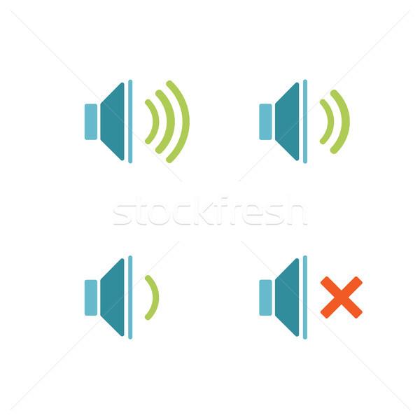 Odizolowany dźwięku ikona biały muzyki Internetu Zdjęcia stock © Imaagio