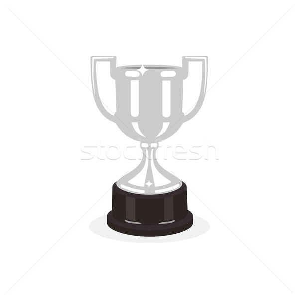 Trophy silver cup flat design on a white background. Award cup. Vector illustration Stock photo © Imaagio
