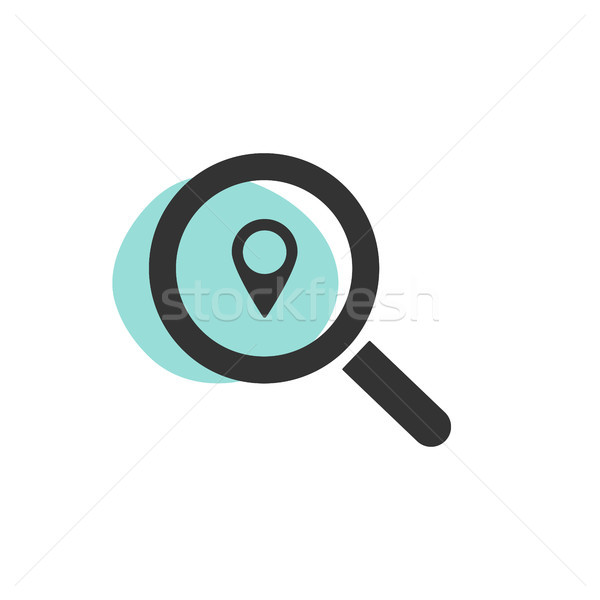Magnifying glass looking for a location isolated web icon Stock photo © Imaagio