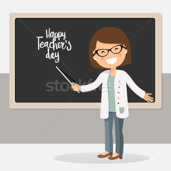 Happy teachers day vector illustration Stock photo © Imaagio