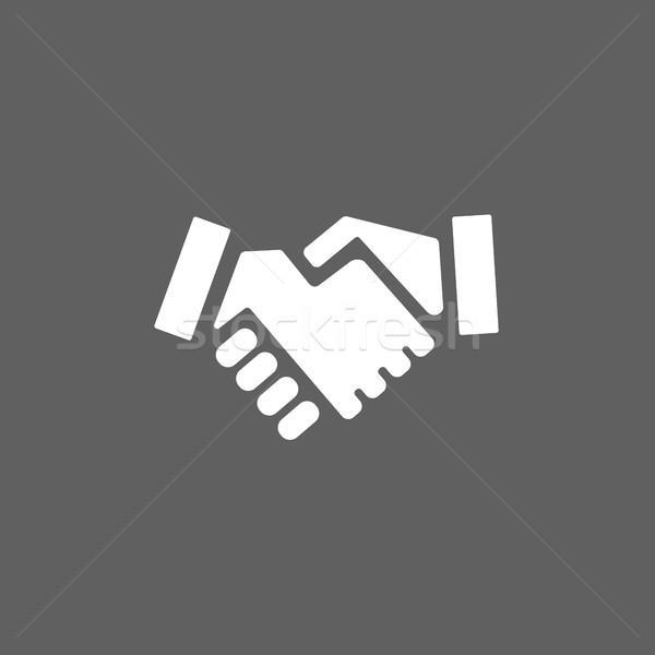 рукопожатие икона темно стороны знак команда Сток-фото © Imaagio