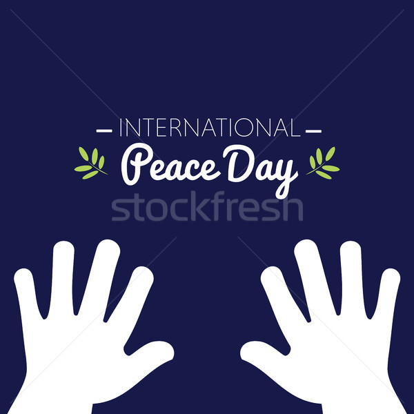 International peace day with white hands asking for peace Stock photo © Imaagio