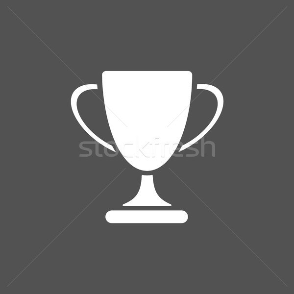 трофей икона черный дизайна знак успех Сток-фото © Imaagio