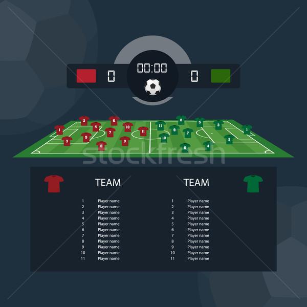 Futebol combinar scoreboard projeto dois exemplo Foto stock © Imaagio