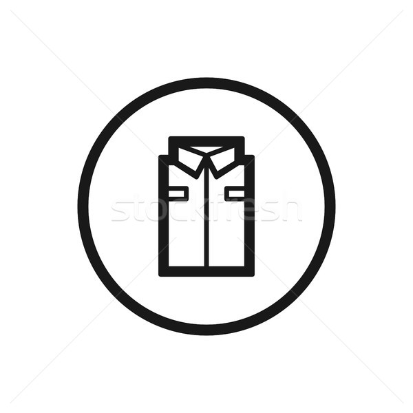 Working clothes line icon on a white background Stock photo © Imaagio