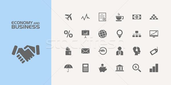 Gruppo venti economia business icone design Foto d'archivio © Imaagio