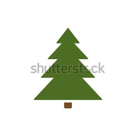 Izolált karácsonyfa ikon szín fa háttér Stock fotó © Imaagio