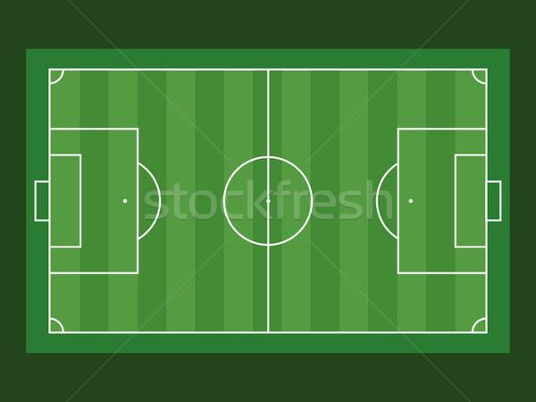 Futballpálya légifelvétel zöld textúra futball háttér Stock fotó © Imaagio