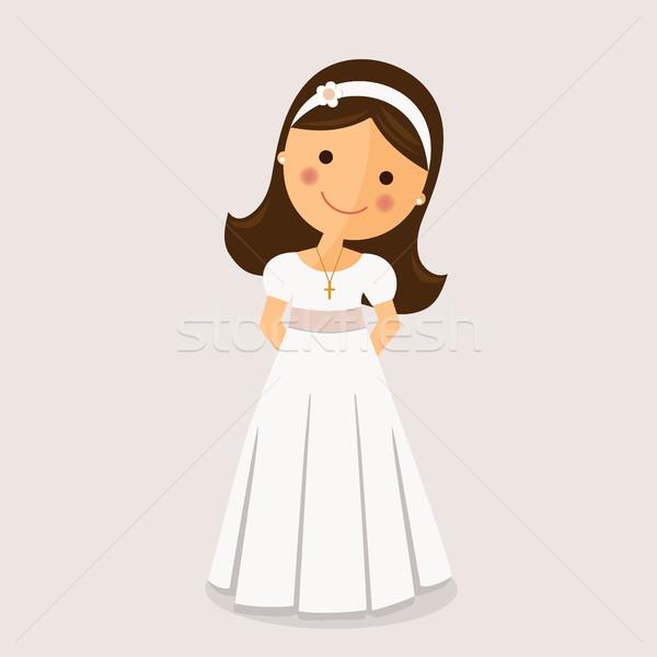Girl with communion dress  Stock photo © Imaagio
