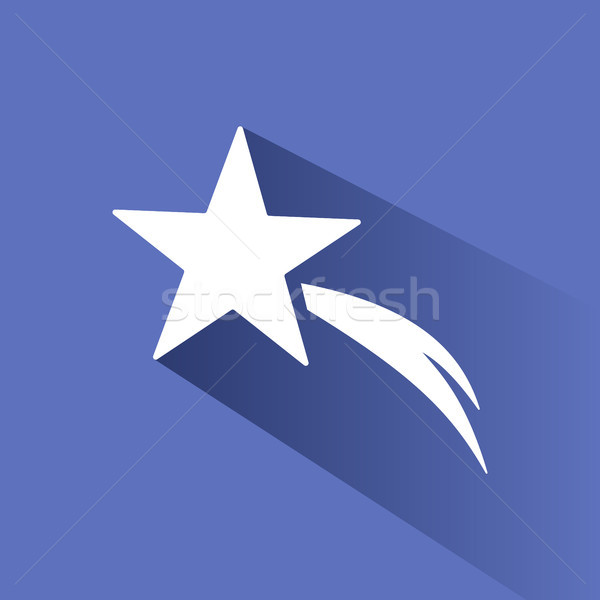 Christmas star icon with shade on blue background Stock photo © Imaagio