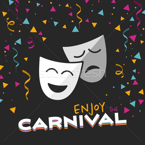 Desfrutar carnaval preto ilustração projeto arte Foto stock © Imaagio