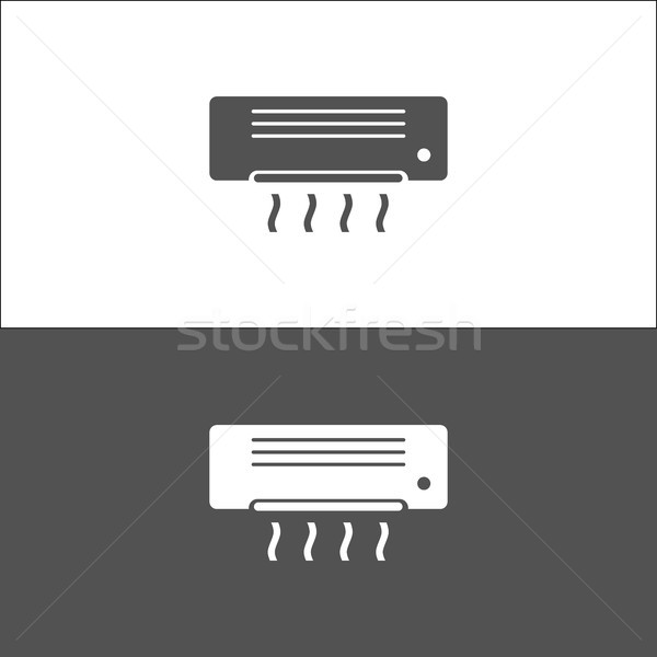 Air conditioning icon on black and white background Stock photo © Imaagio