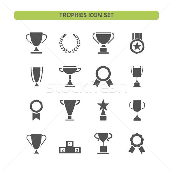 трофей белый металл звездой Кубок Сток-фото © Imaagio