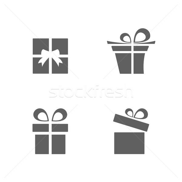 Stock photo: Isolated gifts icons set on white background