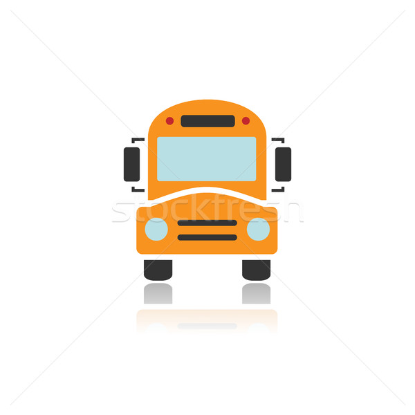 Bus school icon with color and reflection Stock photo © Imaagio