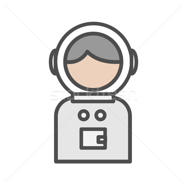 Spaceman avatar icon on white background Stock photo © Imaagio