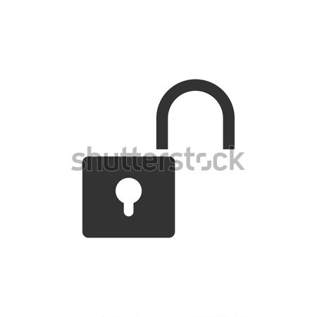 Unlock icon on white background Stock photo © Imaagio