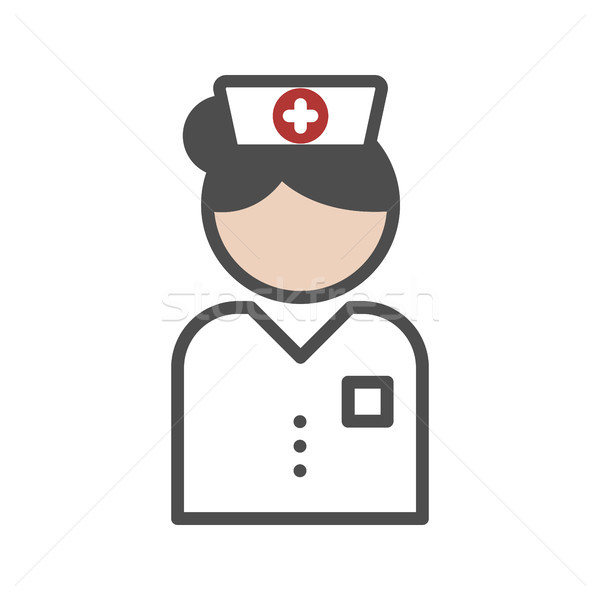 Classic nurse icon with white uniform Stock photo © Imaagio