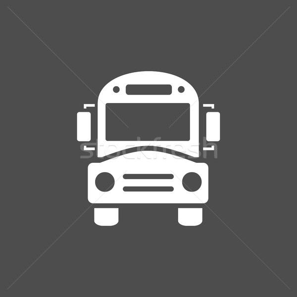 Bus school icon on a dark background Stock photo © Imaagio