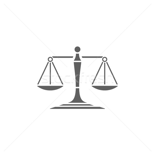 Scales of justice icon on a white background Stock photo © Imaagio