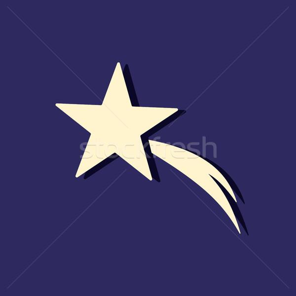 Christmas star icon in the night sky Stock photo © Imaagio
