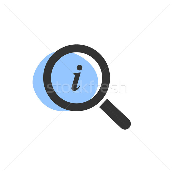 Lupa olhando informação isolado ícone web cara Foto stock © Imaagio