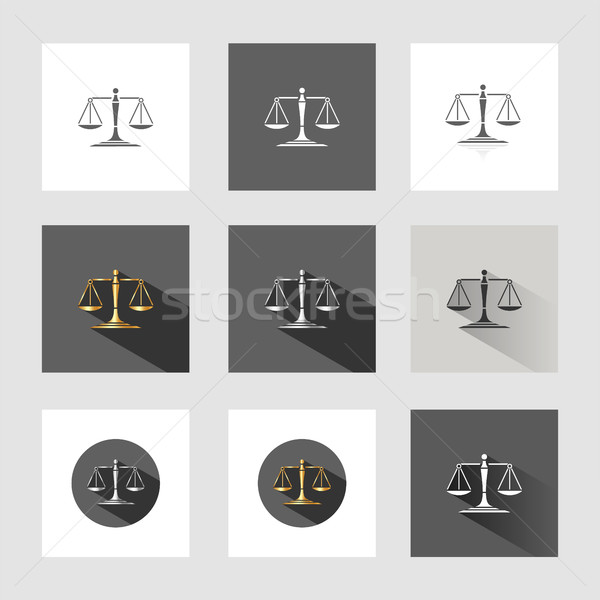 Scales of justice Stock photo © Imaagio