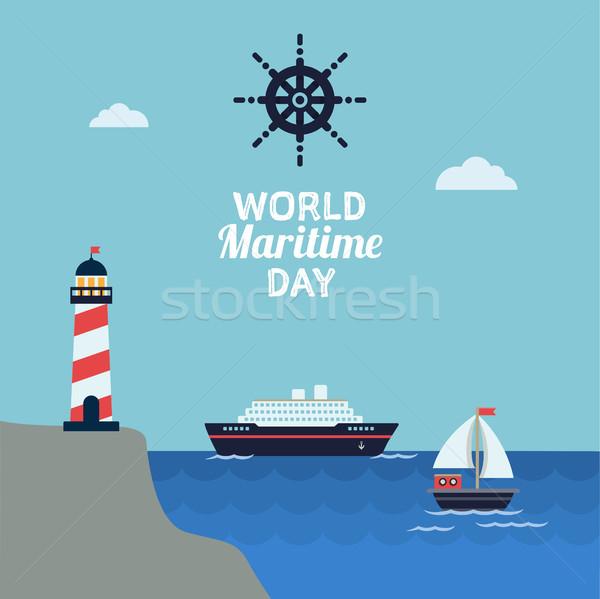 World maritime day celebration Stock photo © Imaagio