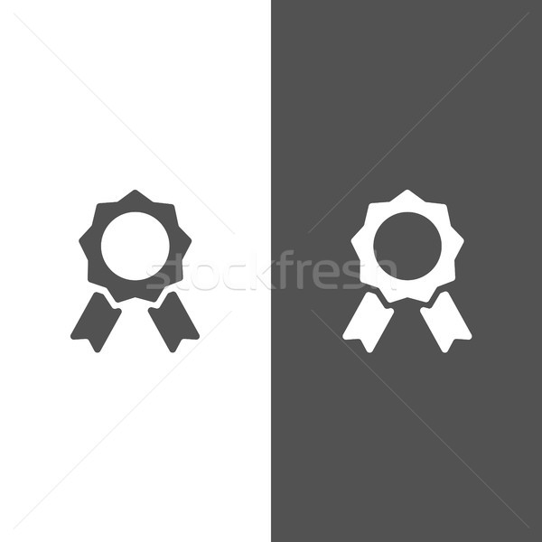 Seal of authenticity on black and white background Stock photo © Imaagio