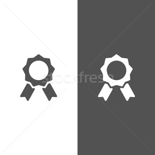 Stockfoto: Zegel · echtheid · zwart · wit · achtergrond · teken · stempel
