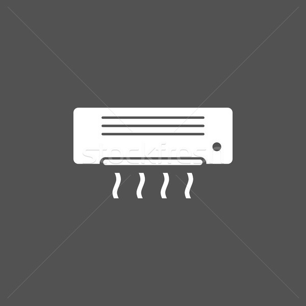 Stock photo: Air conditioning icon on dark background
