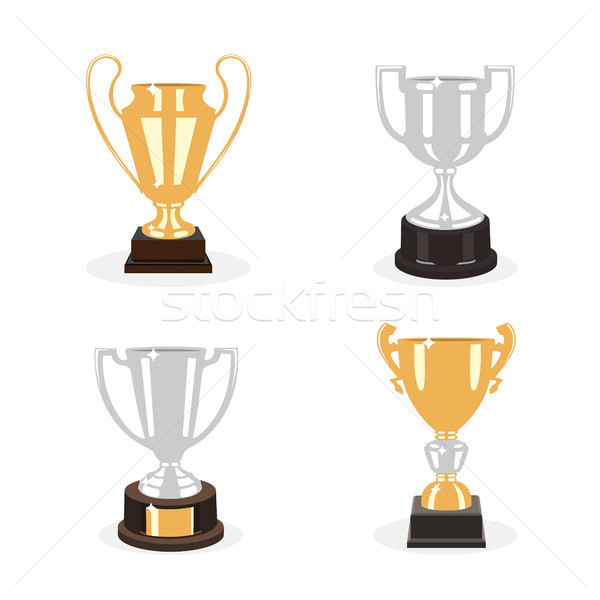 Ouro prata copo troféus conjunto fundo Foto stock © Imaagio