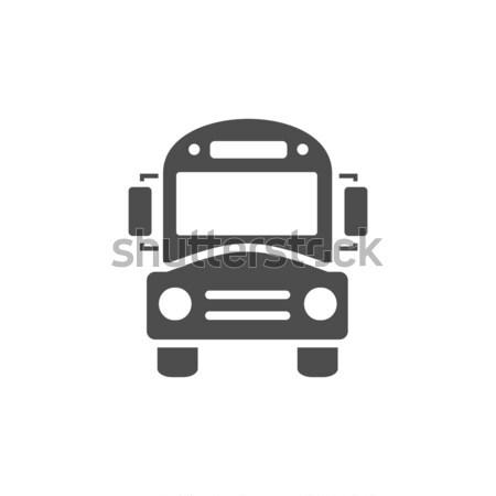 Bus school icon on a white background Stock photo © Imaagio
