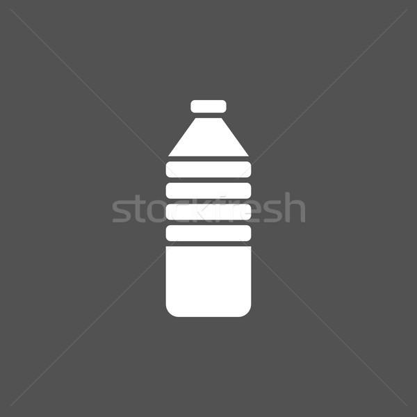 Une bouteille d'eau icône sombre design signe bleu Photo stock © Imaagio
