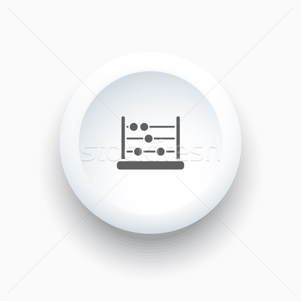 Abacus icon on a white simple button Stock photo © Imaagio