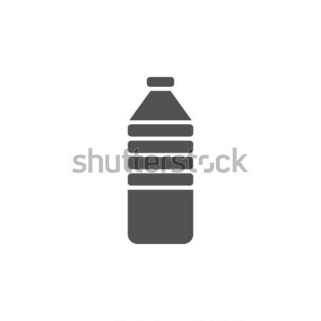 Une bouteille d'eau icône bouteille blanche design Photo stock © Imaagio
