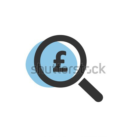 Magnifying glass looking for pounds isolated web icon Stock photo © Imaagio