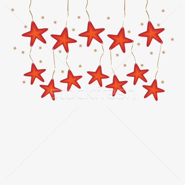 Christmas background with pendant stars Stock photo © Imaagio